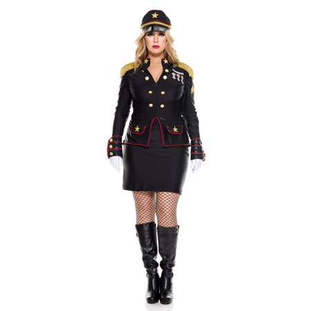 Women's Plus Size Military General Costume - General Lee Costume