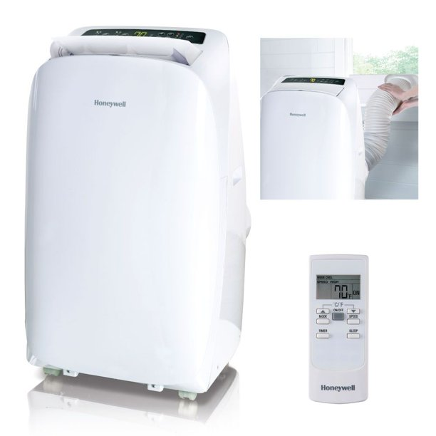 Honeywell HL14CESWW 14,000 BTU 115V Portable Air Conditioner for Rooms Up To 550 Sq. Ft. with Dehumidifier & Fan, White