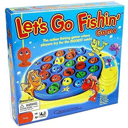 Pressman Let's Go Fishin' Game Classic action-packed kids board game, Fun action fishing game By Pressman Toy