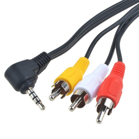 25/' 4 Pin S-Video 3.5mm Audio to 3 RCA PC to TV Cable