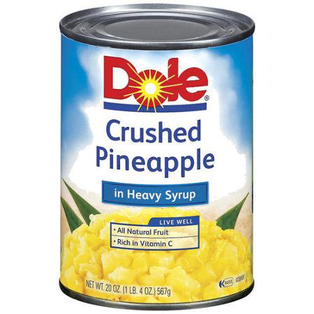 dole crushed pineapple in heavy syrup 20 oz can