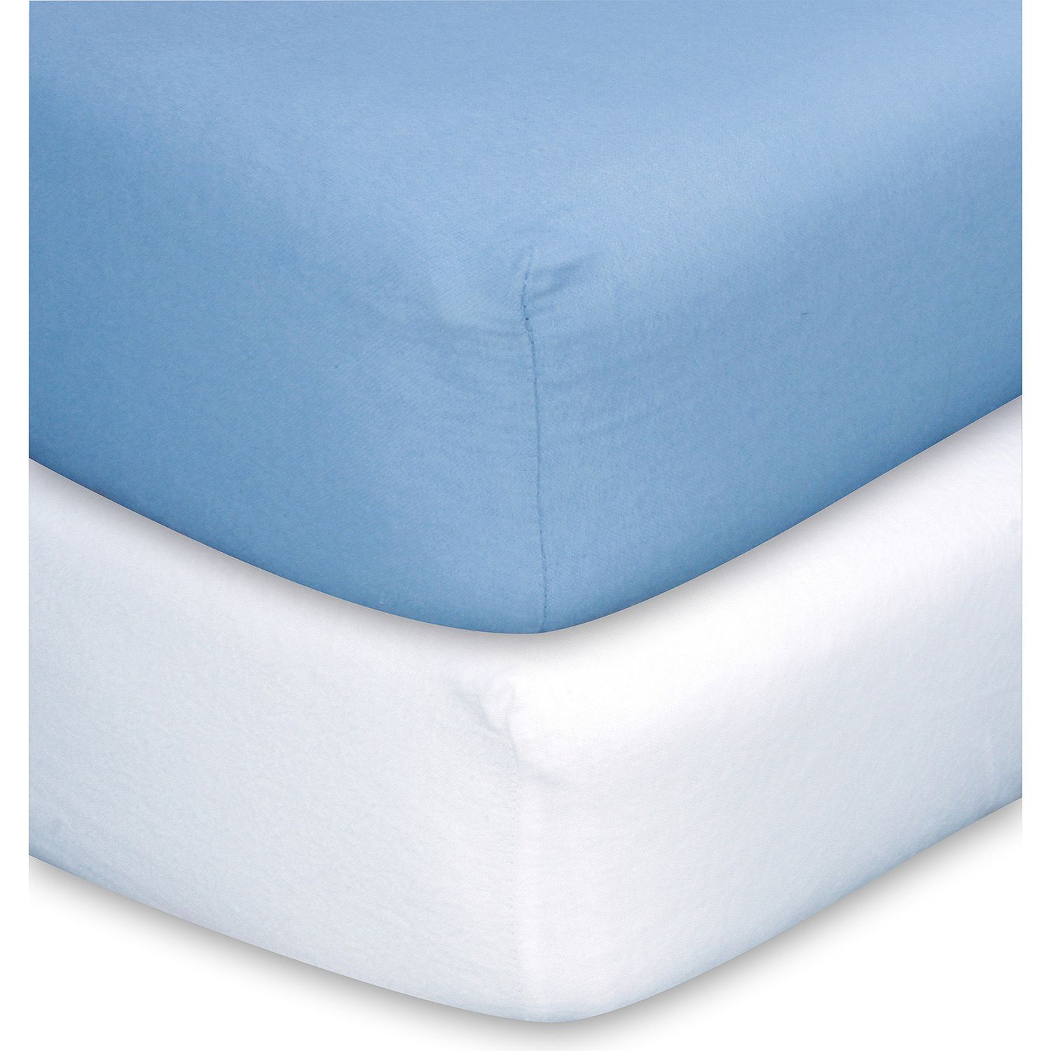 Trend Lab Crib Sheets Blue & White- Pack of 5