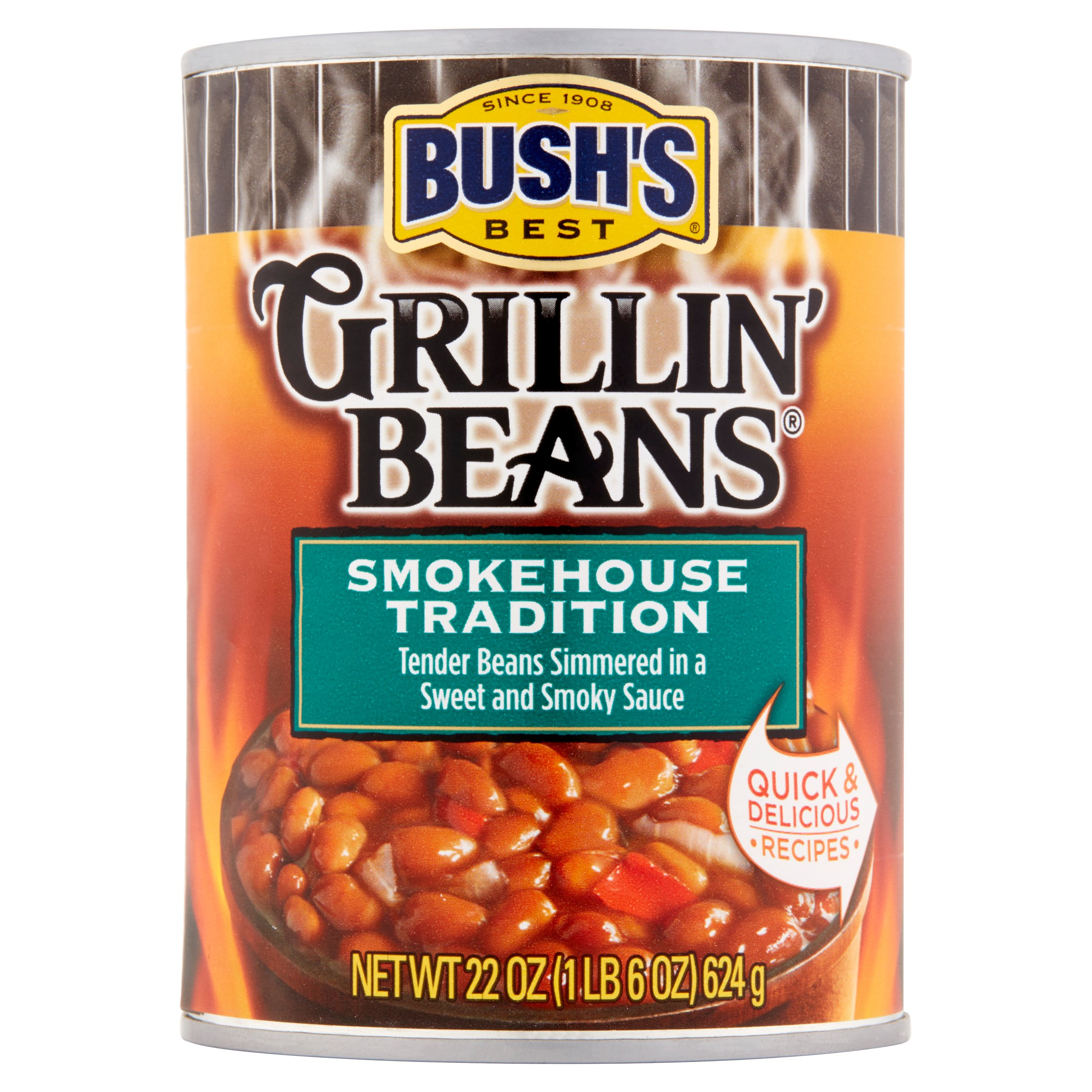 Bush's Best Smokehouse Tradition Grillin Beans, 22 oz by Bush Brothers & Company