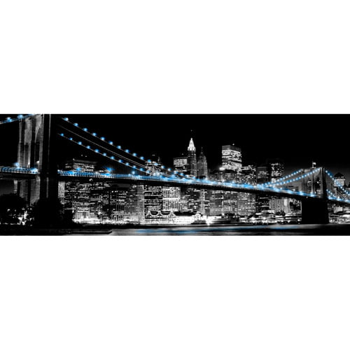 Blue Brooklyn Bridge II Wall Artwork by