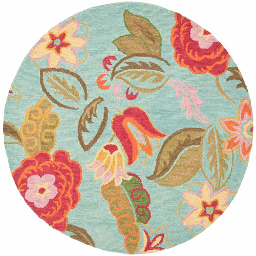 Safavieh Blossom Mia Wool Area Rug, Blue/Multi