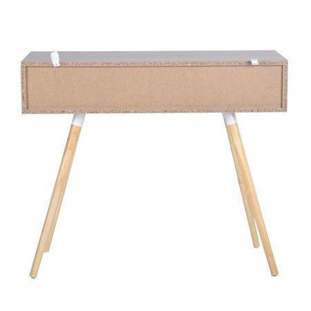 Ulton Brown Office Desk - Light Wood and 1 White Drawer - image 9 of 9