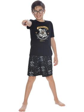 Boys' Harry Potter Gold Crest 2 Piece Pajama Short Set (Little Boy & Big Boy)