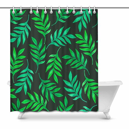 POP Green Leaves Country for Bathroom Shower Curtain 60x72 inch - image 1 of 1