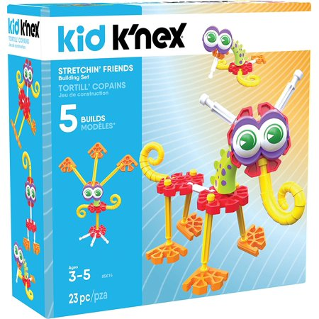 Kid Knex   Stretchin Friends Building Set   23 Pieces   Ages 3 And Up Preschool Educational Toy  23 Brightly Colored Pieces   The K Nex Stretchin  Friends Building Set    By Knex