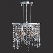 "Worldwide Lighting W83123C14-CL Chrome Fiona 2 Light 14"" Ambient Lighting Pendant In"