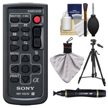 Shifter Accessories (Sony RMT-DSLR2 Wireless Remote Shutter Controller for Sony Alpha Cameras with Tripod + Cleaning & Accessory Kit for Alpha A33, A55, A57, A65, A77, A99, NEX-5/5N/5R, NEX-6, NEX-7)