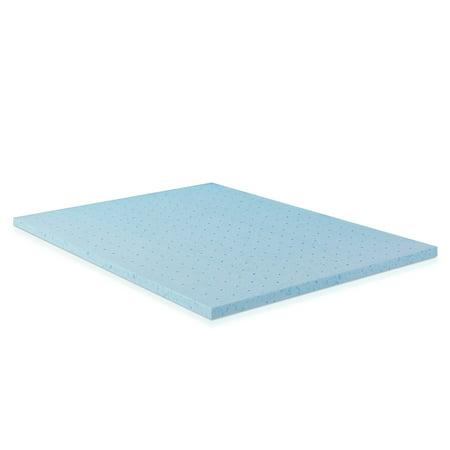 Furinno 2 Inch Hd Gel Infused Foam Mattress Topper Firm Walmart Com