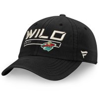 Minnesota Wild Fanatics Branded Youth Authentic Pro Rinkside Alpha Adjustable Hat - Black - OSFA