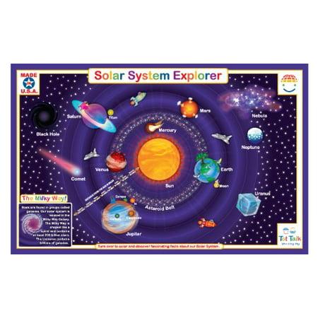 Placemat - Tot Talk - Solar System Meal Dinning Kids Mat tot1002 ()
