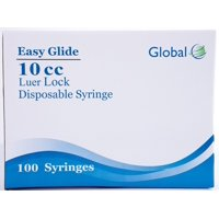 10mL Easy Glide Syringes - Luer Lock - No Needle - Box of 100