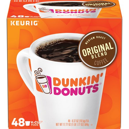 Dunkin' Donuts Original Blend K-Cup Coffee Pods, Medium Roast, 48 Count For Keurig and K-Cup Compatible Brewers