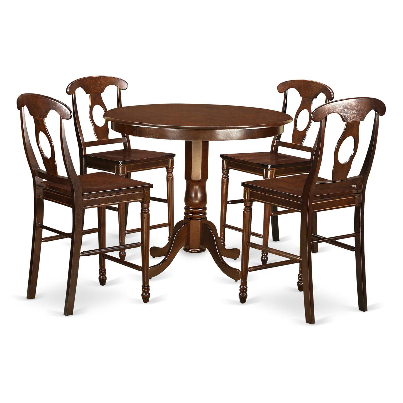 East West Furniture Trenton 5 Piece Keyhole Dining Table Set
