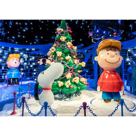 Canvas Print Ice Sculpture Christmas Tree Charlie Brown Cute Stretched Canvas 32 x 24