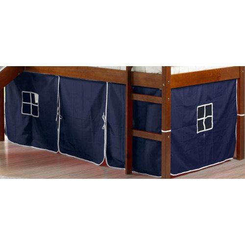 Donco Kids Curtain Set for Twin Loft Bed Walmart