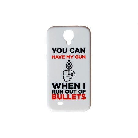 iCandy Products You Can Have My Gun When I Run Out of Bullets Phone Case for the Galaxy S7 1 In/2 Out Phone