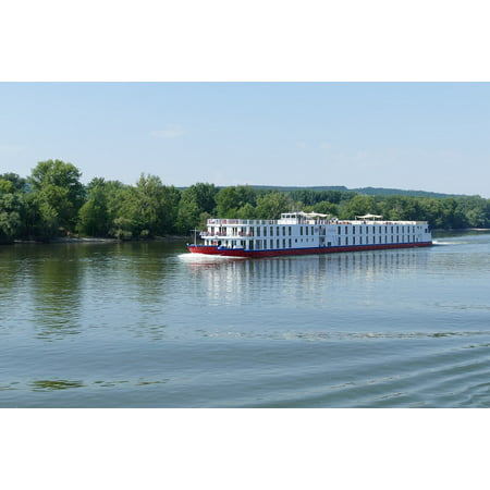 Canvas Print Forest River Danube Hungary Bank River Cruise Stretched Canvas 10 x