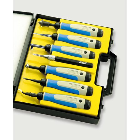 NOGA SP7700 7 Pc. Complete Deburring Tool Set in Plastic (Deburr Tool)