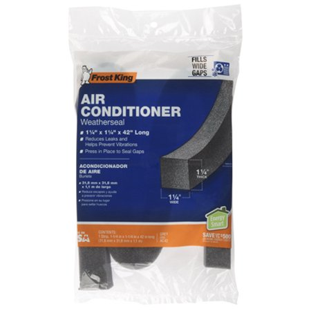 THERMWELL 1-1/4 x 1-1/4 x 42-Inch Air Conditioner Foam Weather Seal AC42H