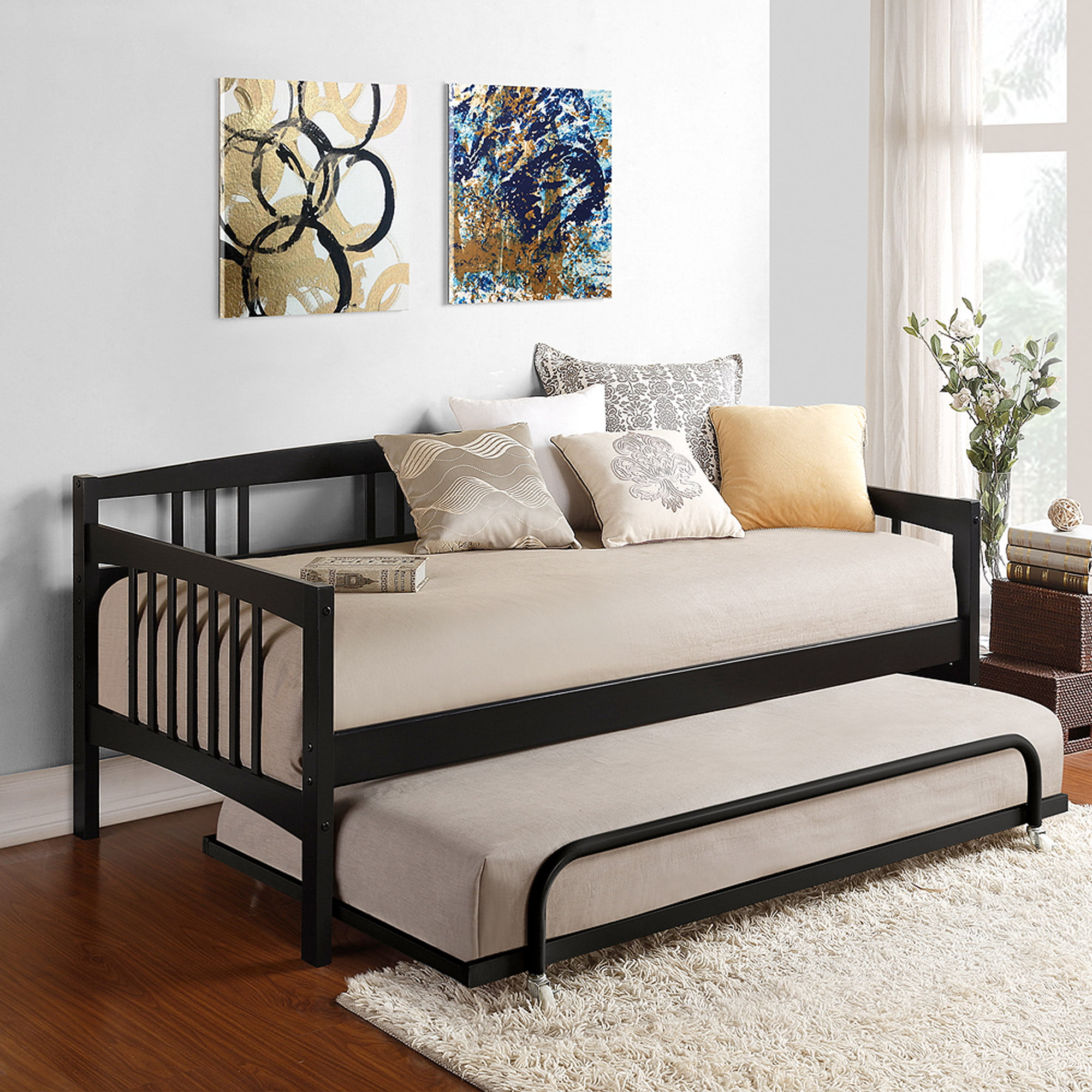 brand new 8c0bb 1b939 Dorel Living Kayden Wood Twin Daybed, Multiple Colors