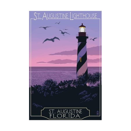 St Augustine Florida Lighthouse Print Wall Art By Lantern Press