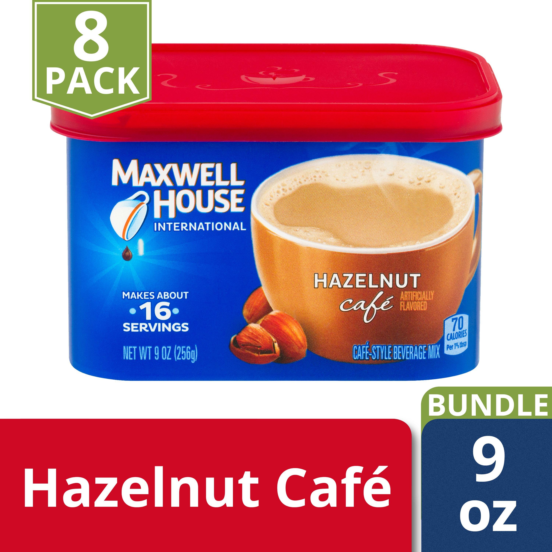 9 OZ COFFEE DRINK-INSTANT FLAVORED HAZELNUT CAFE 8 TRAY CASE
