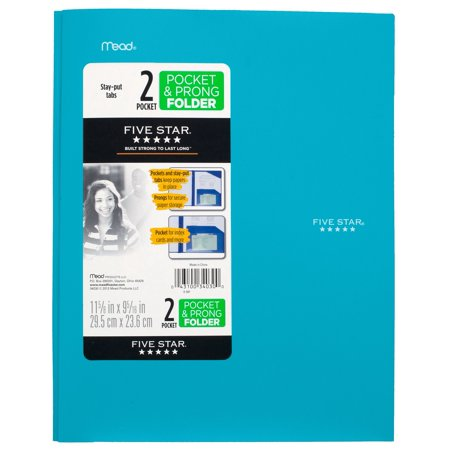 Five Star Advance Stay-Put Folder, Lime - Cute Folders