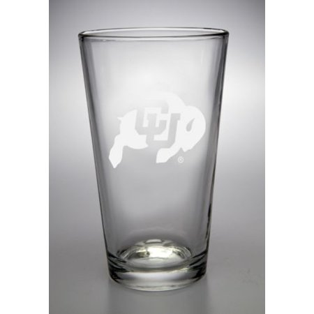 NCAA - Colorado Buffaloes 16 oz Deep Etched Pub Pint Glass