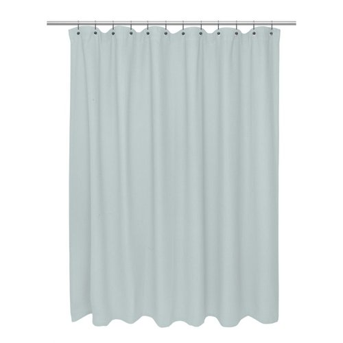 Pink Curtain Rod Finials Lengthen Shower Curtain