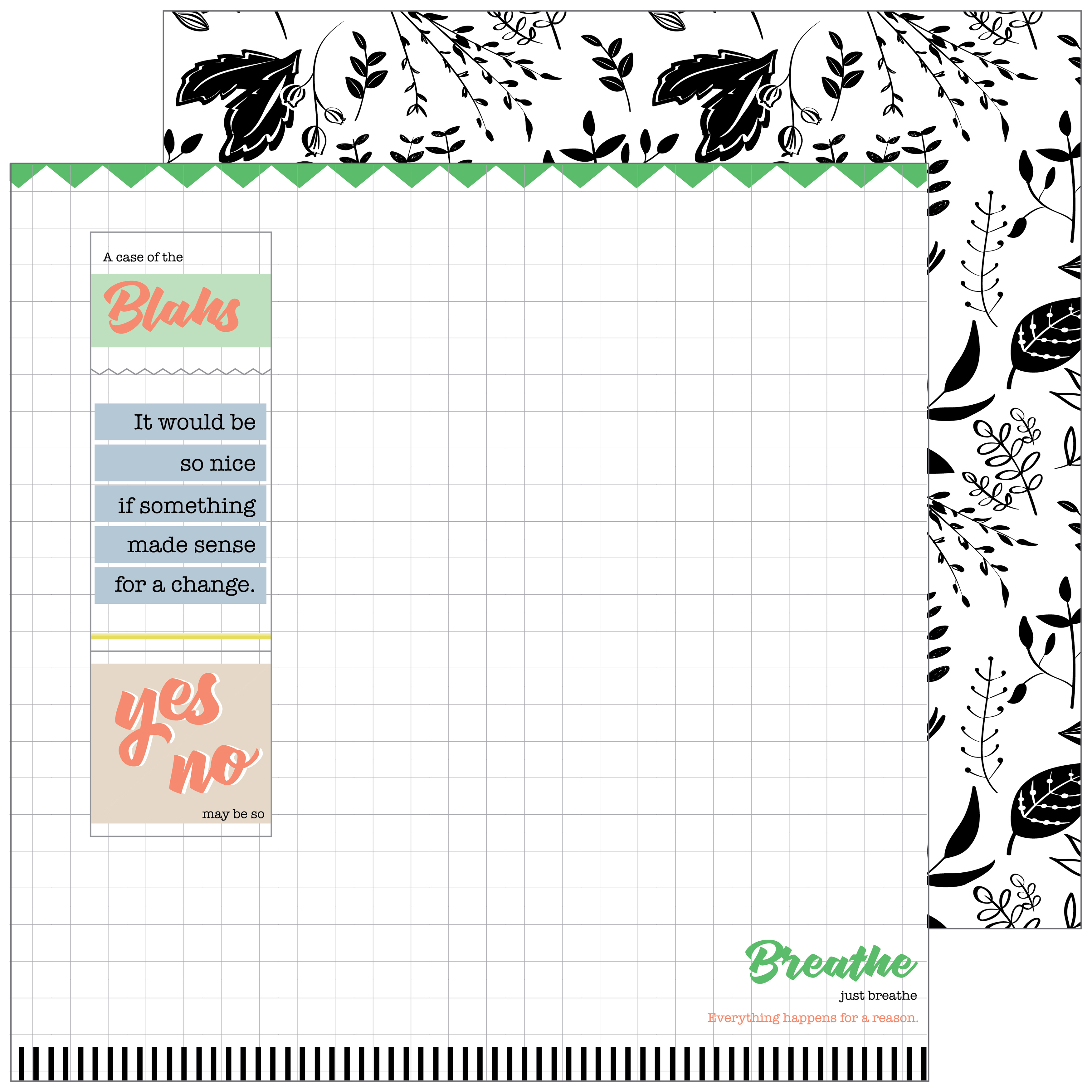 "A Case Of The Blahs Double-Sided Cardstock 12""X12""-Chaos - image 1 of 1"