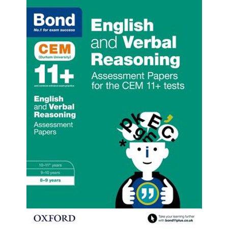 Bond 11+ : English and Verbal Reasoning: Assessment Papers for the Cem 11+ (Bond Assessment Papers English 10 11 Answers)
