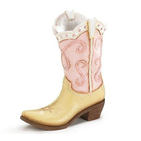 Burton & Burton Howdy Cowgirl Pink Vase