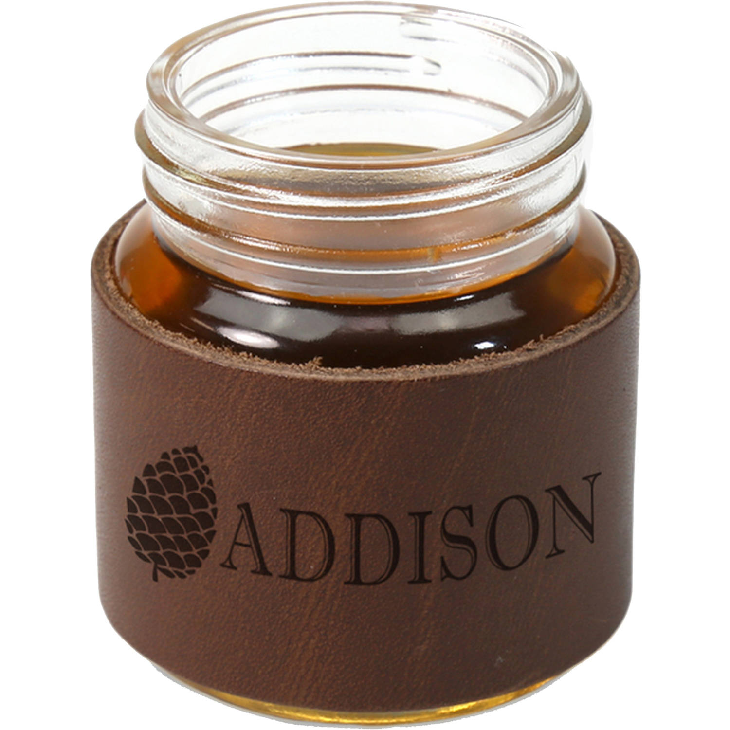 Personalized Leather Mini Mason Jar 2 Oz Shot Glass Holds 2oz Walmart Com Walmart Com