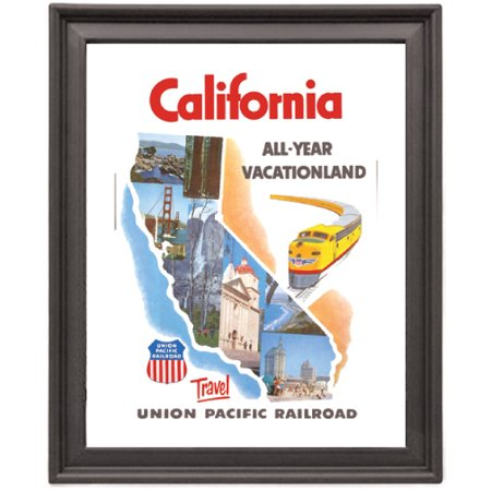 California Vintage Travel   Picture Frame 8X10 Inches   Poster   Print