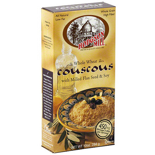 Hodgson Mill Whole Wheat Couscous With Milled Flax Seed & Soy, 6.6 oz (Pack of 8)