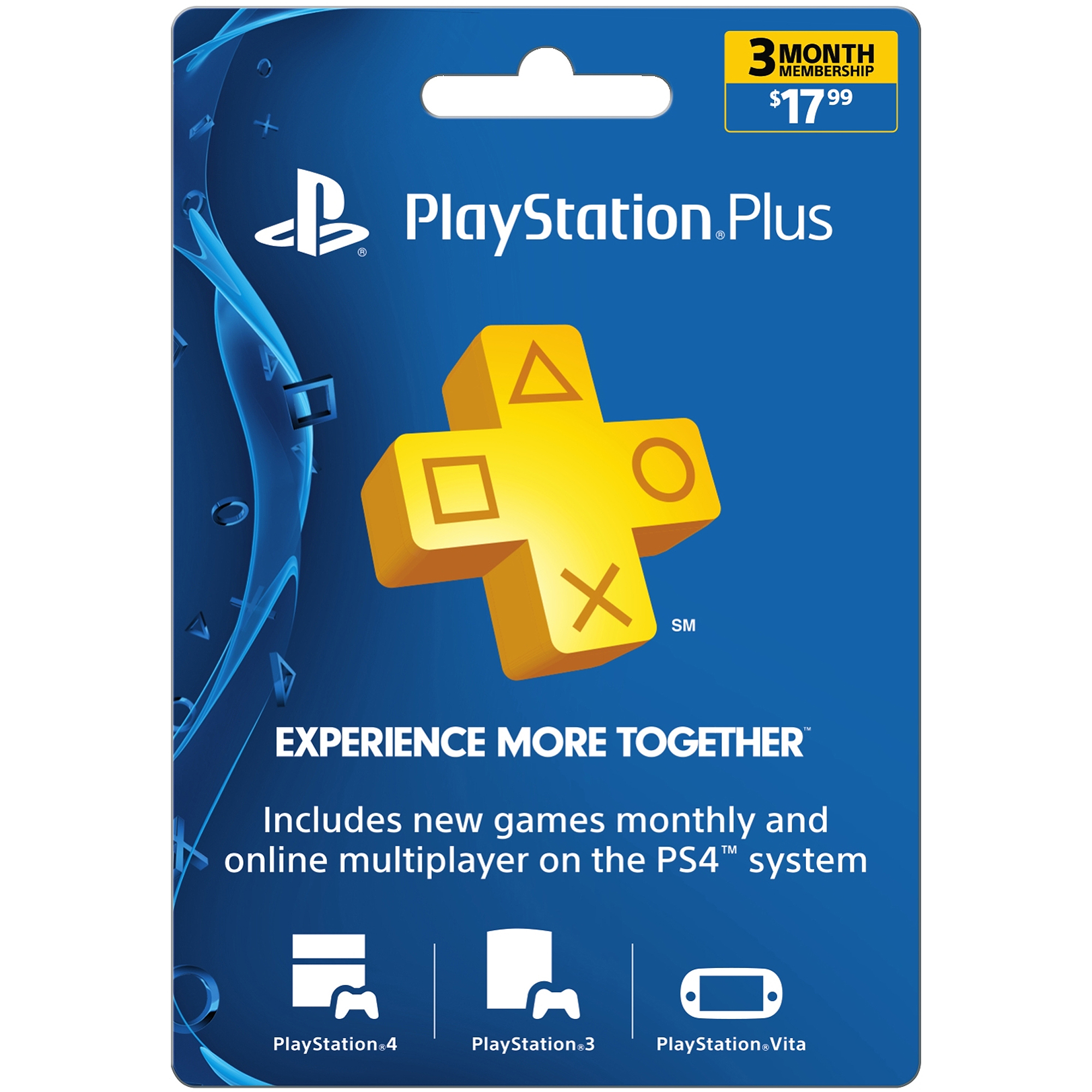 Sony PlayStation Plus 3 Month $17.99