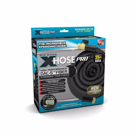 Big Boss Xhose Pro Dac 5, 25 ft, The Original Expandable Garden Hose, Super Lightweight & Durable - As Seen on TV