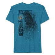 Star Wars Mens Chewbacca Graphic Basic T-Shirt, blue, Small