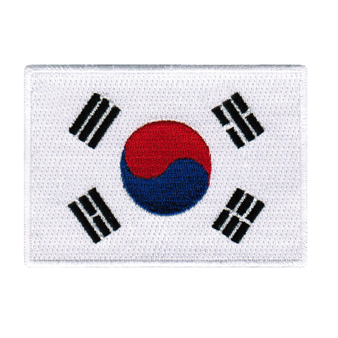 South Korea Flag Embroidered Iron-on Patch