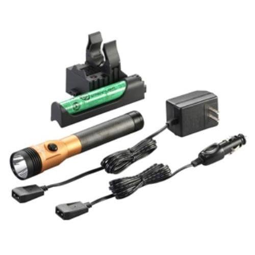 Streamlight 75480 Stinger LED HL Rechargeable Flashlight with PiggyBack Charger (Orange)