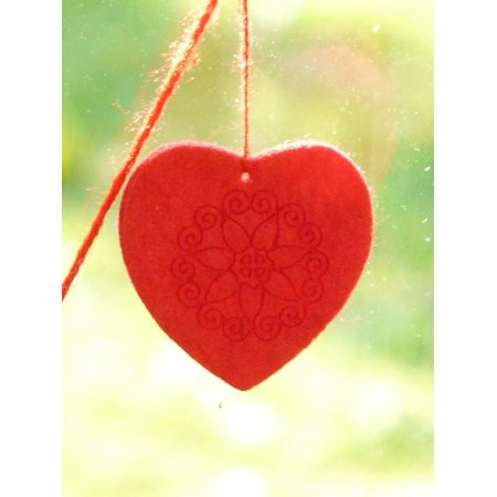 LAMINATED POSTER Felt Deco Window Decorations Decoration Heart Poster Print 24 x 36