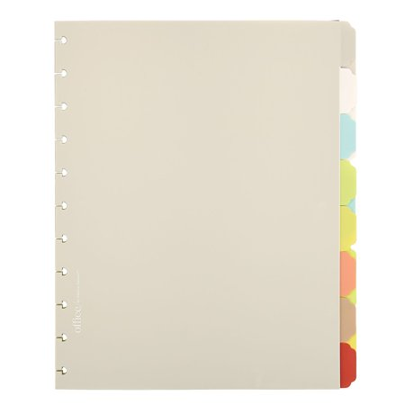 Office by Martha Stewart Discbound Junior Notebook Dividers 8 Tab (44470) 1890766