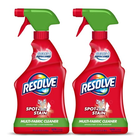 (2 Pack) Resolve Upholstery Cleaner & Stain Remover, 22oz Bottle, Multi-Fabric