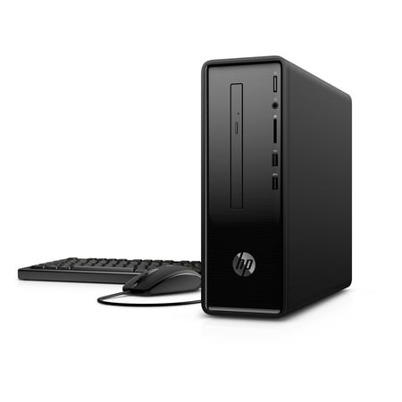 HP 290-A0011 Black Desktop, Windows 10, AMD A6-9225 Processor, 4GB Memory, 1TB Hard Drive, AMD UMA Graphics, DVD, Keyboard and