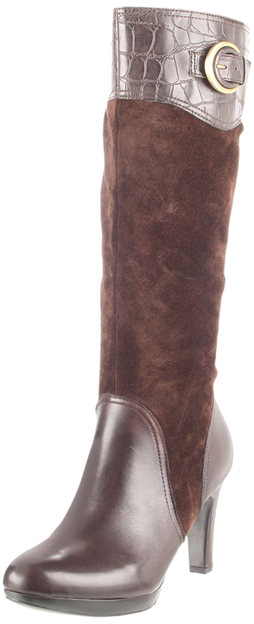 Naturalizer Womens Ilaz Leather Almond Toe Knee High Fashion Boots by Naturalizer