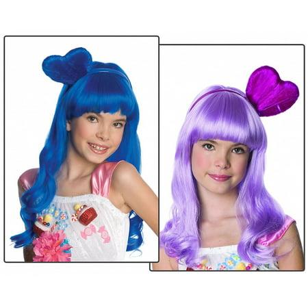 California Gurl Wig Child Costume Accessory Purple - Purple Katy Perry Wig